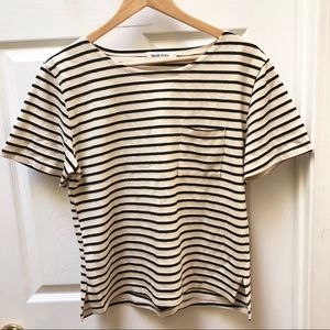Taylor Stitch Striped Short Sleeve Tee Thick